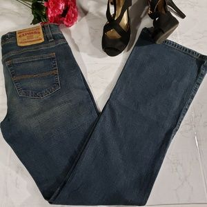 Express Precision Fit Sarula Jeans Size 6 Long Boo
